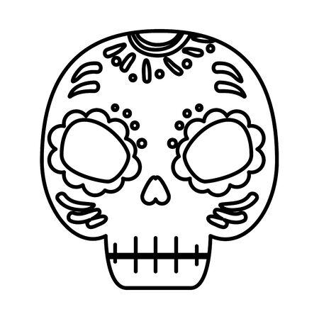 death mask mexican icon vector illustration design