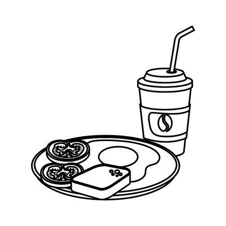 delicious breakfast menu icons vector illustration design Stockfoto - 128046774