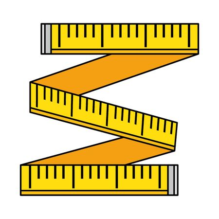 tape measure isolated icon vector illustration design Ilustração