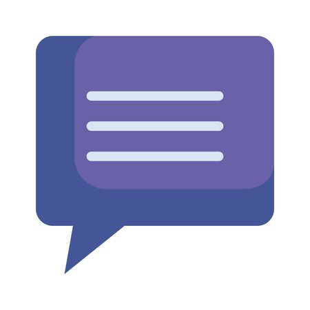 speech bubble message icon vector illustration design Ilustrace
