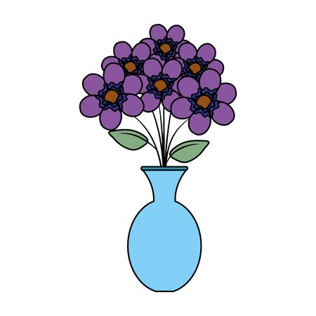 vase with flowers icon vector illustration design Çizim