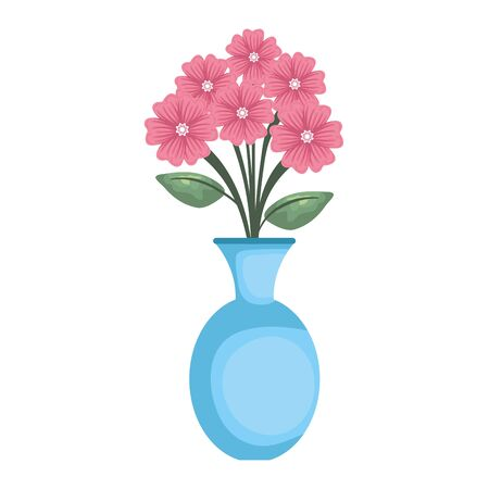 vase with roses icon vector illustration design Stockfoto - 128043688