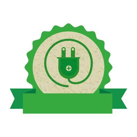 energy plug ecology icon vector illustration design 向量圖像