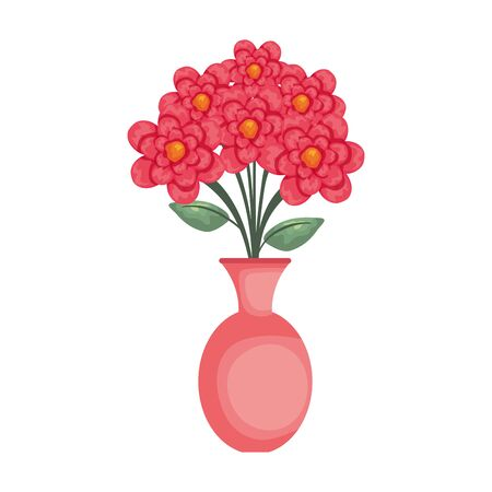 vase with flowers icon vector illustration design Stock Illustratie
