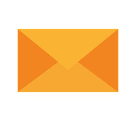 envelope mail post isolated icon vector illustration design  イラスト・ベクター素材