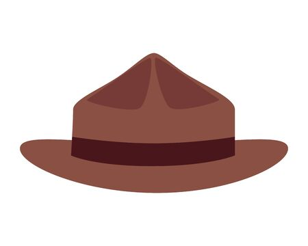 canadian ranger hat uniform icon vector illustration design