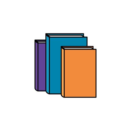 pile text books library icons vector illustration design