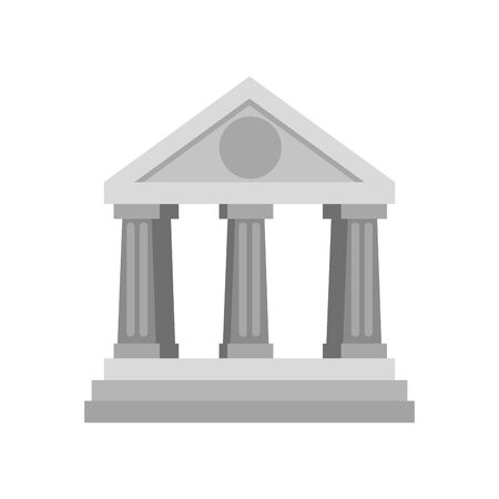 bank building facade isolated icon vector illustration design