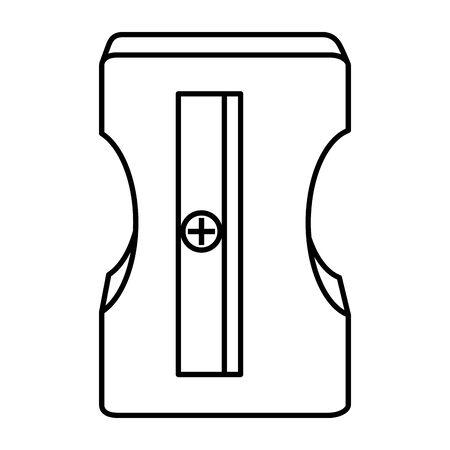 sharpener education supply isolated icon vector illustration design Illustration