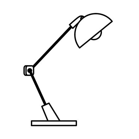 desk lamp equipment isolated icon vector illustration design