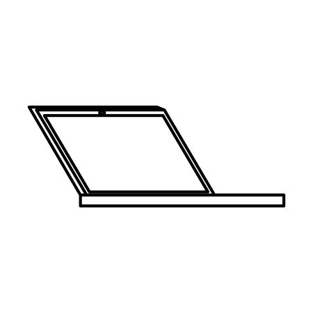 laptop computer portable device icon vector illustration design