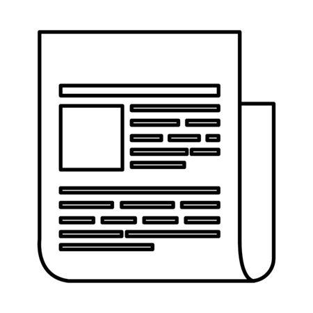 Papierdokument Datei Symbol Vektor Illustration Design