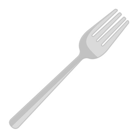 fork cutlery tool icon vector illustration design Illustration