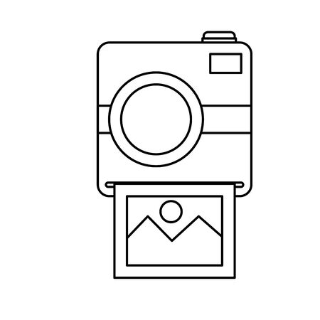 photographic camera with picture snapshot vector illustration design Ilustracja