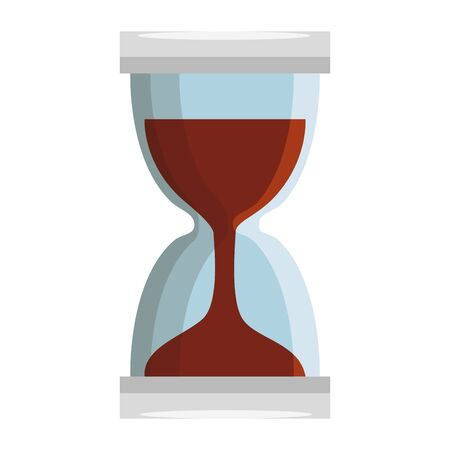 hourglass time device isolated icon vector illustration design Stok Fotoğraf - 128147405