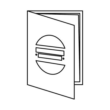 flyer paper print icon vector illustration design