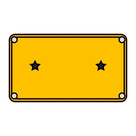 metal plate with stars icon vector illustration design Illustration