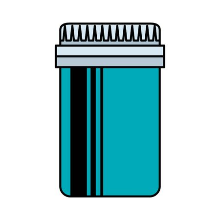 medical plastic bottle isolated icon vector illustration design