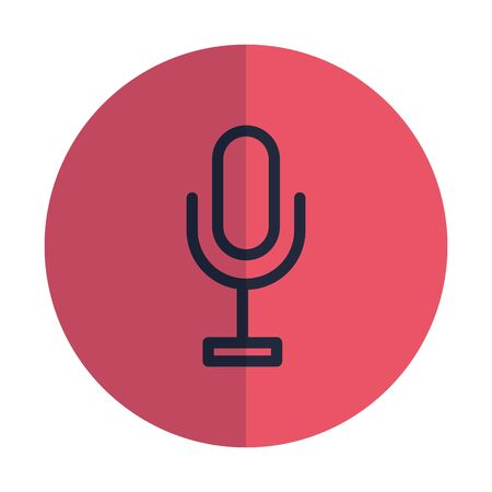microphone audio record isolated icon vector illustration design