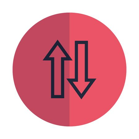 arrows direction up and down icon vector illustration design 向量圖像