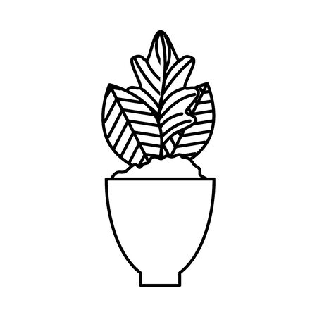 houseplant in pot natural icon vector illustration design 스톡 콘텐츠 - 128204386