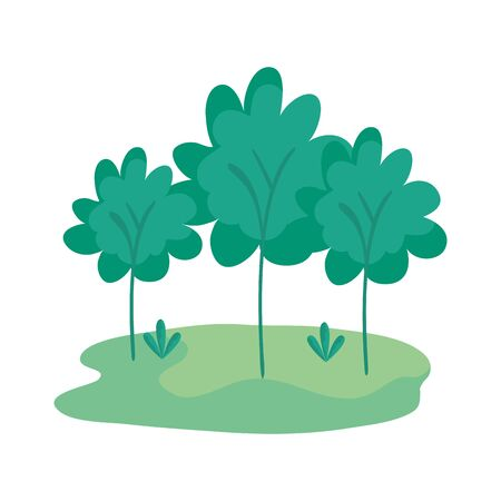 camp field landscape scene icon vector illustration design