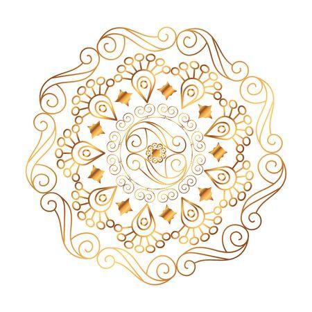 conception d'illustration vectorielle de style victorien mandala doré