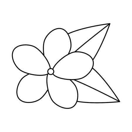 beautiful flower with leafs decoration vector illustration design Archivio Fotografico - 128336794