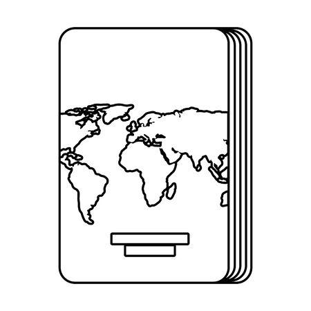 passport document isolated icon vector illustration design 写真素材 - 128357315