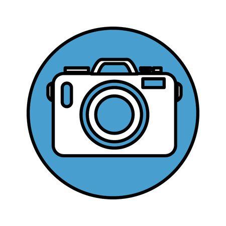 photographic camera device icon vector illustration design