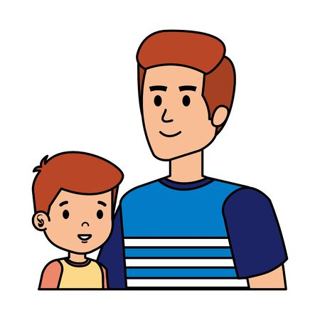 young father with son characters vector illustration design Standard-Bild - 128330888