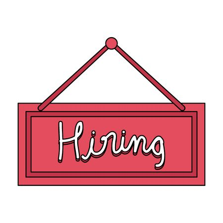 hiring label hanging icon vector illustration design 일러스트