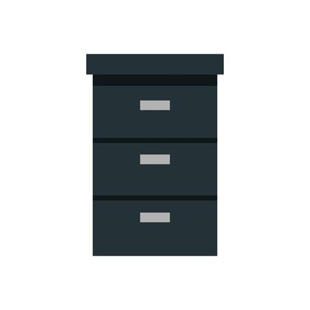 wooden drawer forniture isolated icon vector illustration design Stockfoto - 128360866