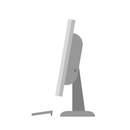 desktop computer portable device icon vector illustration design