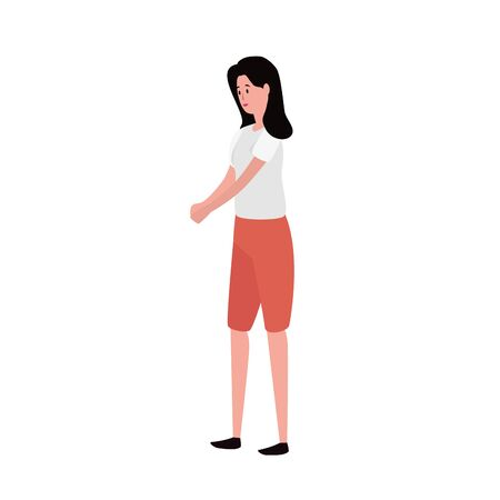 young and beautiful woman character vector illustration design 일러스트