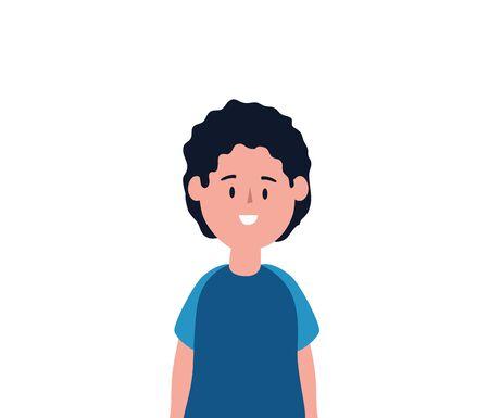 cute little boy avatar character vector illustration design Çizim