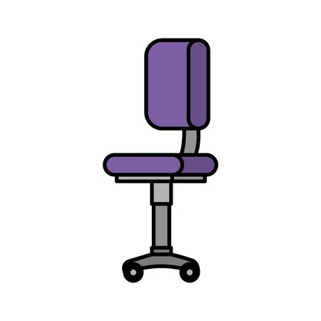 office chair equipment isolated icon vector illustration design Banque d'images - 128360955