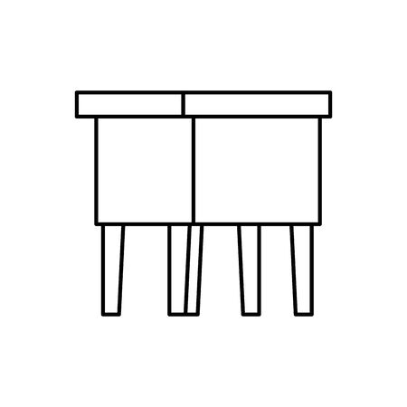 wooden bench forniture isolated icon vector illustration design 일러스트