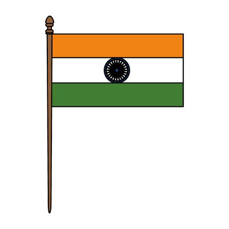 indian flag country isolated icon vector illustration design