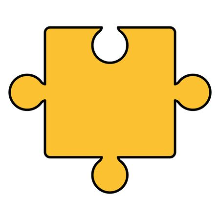 puzzle game piece solution icon vector illustration design