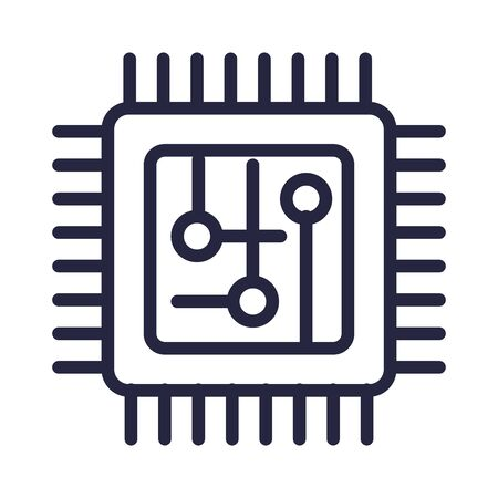 computer processor isolated icon vector illustration design