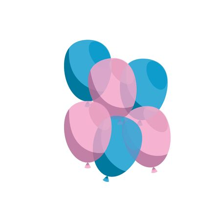 baby shower card with balloons helium vector illustration design
