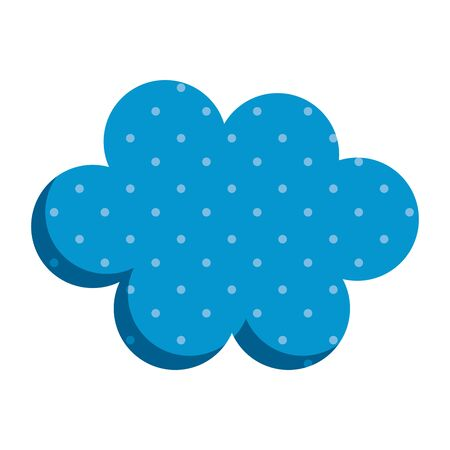 cute cloud sky decorative icon vector illustration design
