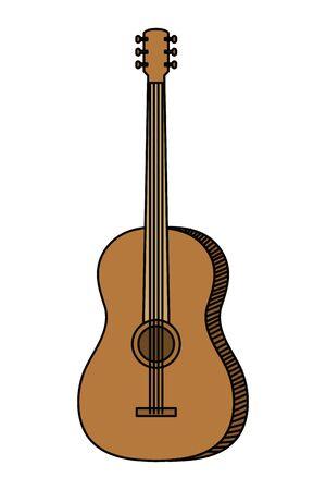 acoustic guitar musical instrument icon vector illustration design Stok Fotoğraf - 128386095