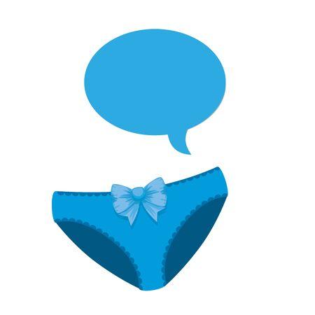 baby shower card with underpants vector illustration design Illusztráció