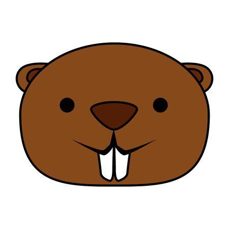 cute beaver mascot animal icon vector illustration design Foto de archivo - 128383397