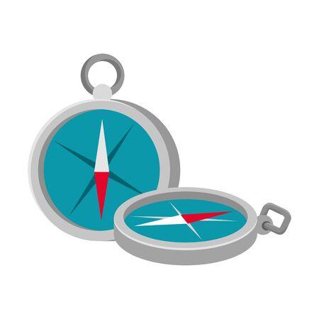 Dispositivo de guía de brújula aislado icono diseño ilustración vectorial