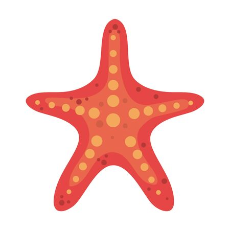 summer starfish animal isolated icon vector illustration design 版權商用圖片 - 128400274