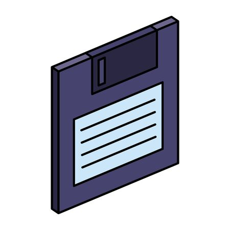 floppy disk data storage icon vector illustration design Ilustração