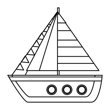 ship sailboat summer isolated icon vector illustration design